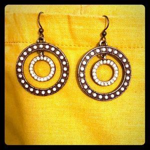 Brighton Round dangle Reversible Bling Earrings